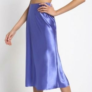 Dresses & Skirts - Purple satin midi skirt NWT